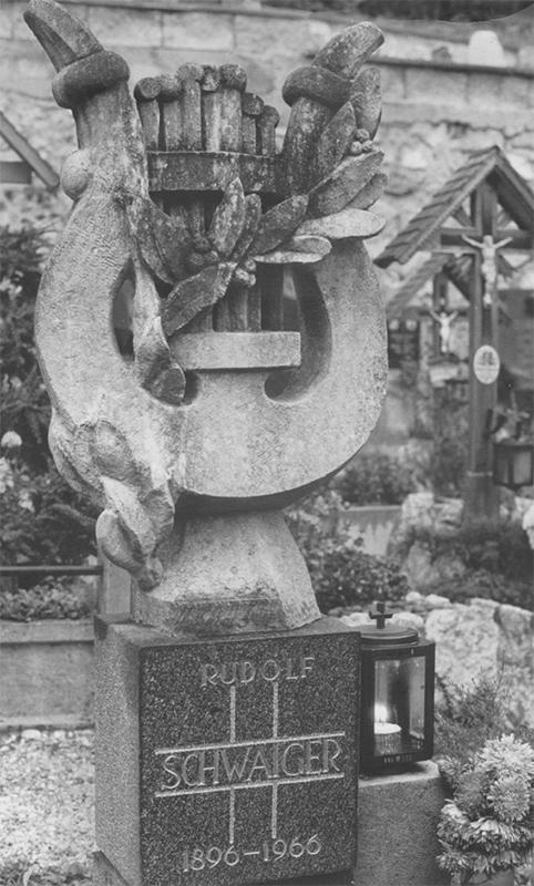 Rudolf Schwaiger - Grabstein für Vater 1967