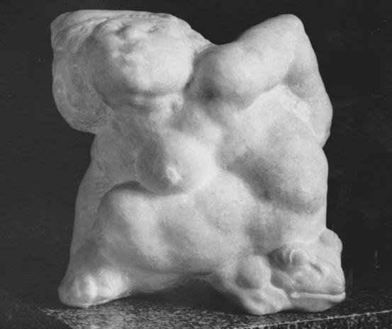 Rudolf Schwaiger - Jungfrau mit Frosch 1975